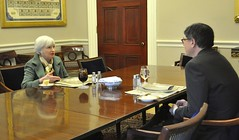U.S. Department of the Treasury: First weekly lunch meeting with Federal Reserve Chair Janet Yellen (Thursday Feb 6, 2014, 4:06 PM)