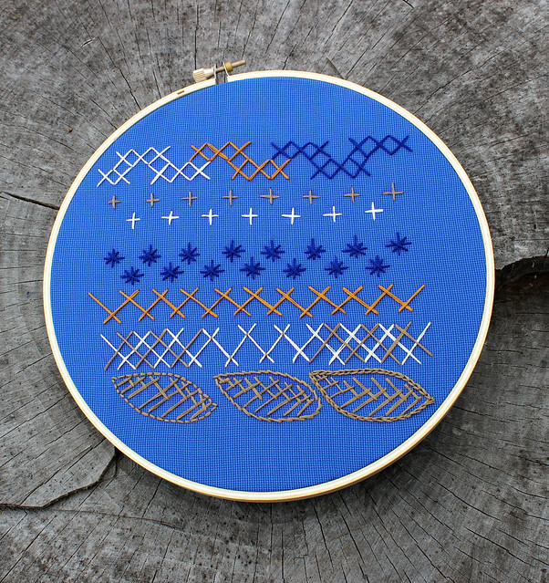 Crossed stitches