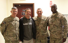 CSA visits troops in southern Afghanistan with John Harbaugh [Image 8 of 12]