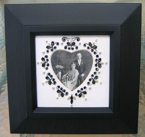Quilled Border - Wedding Portrait