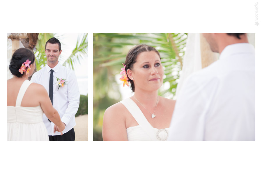Vows. wedding ceremony Rarotonga