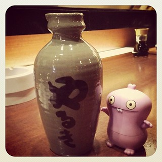 #uglydoll bar time with sake
