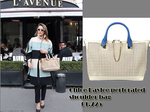 Chloe Baylee perforated shoulder bag