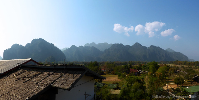 Vang Vieng Panorama from Guest House