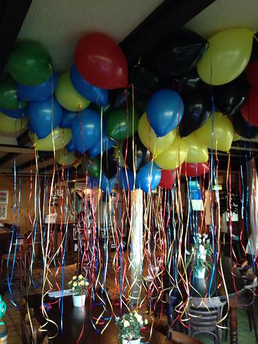 Heliumballonnen Opening Olympiade VV Abbenbroek