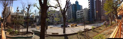 もうすぐ工事が終わる恵比寿公園