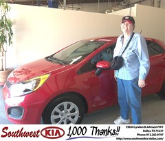 #HappyAnniversary to Gail Chapman on your 2012 #Kia #Rio from Stanley Bowie at Southwest Kia Dallas!