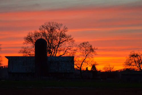 sunset sky farm photoaday frederickmd