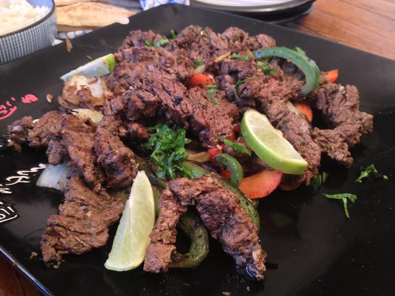 Beef Fajitas : Served