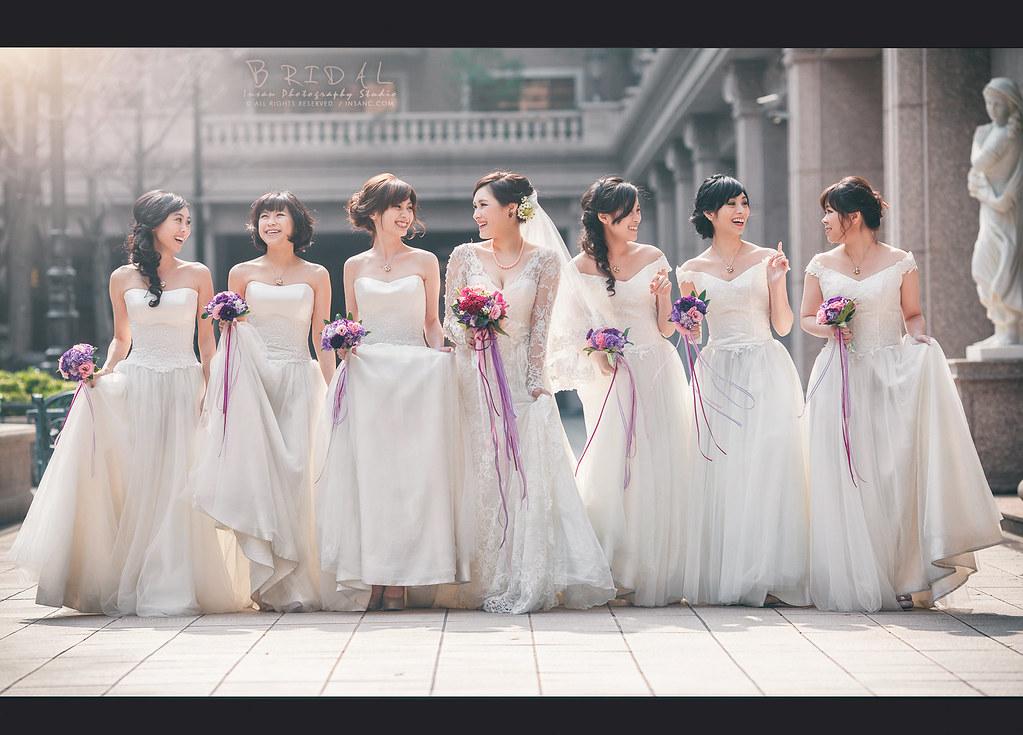 婚攝英聖 新娘 伴娘 感情超好作品