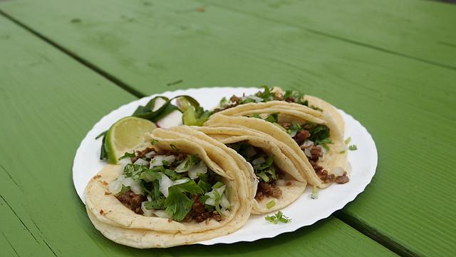 Azada tacos from Taqueria Veracruz in Des Moines, Iowa.