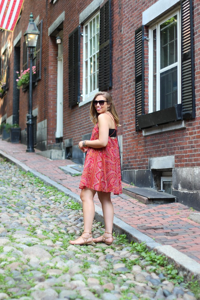 Paisley Swing Dress on Acorn St in Boston