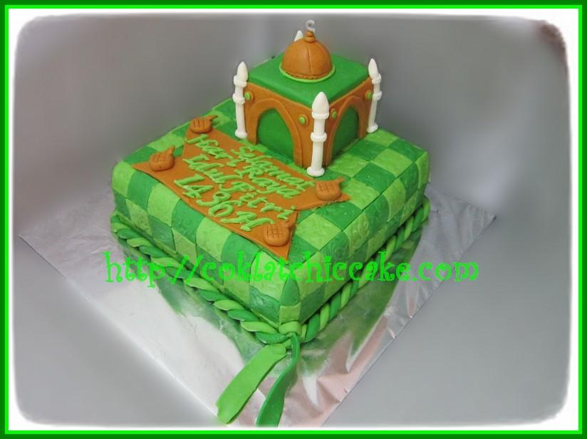 Cake Lebaran / cake mesjid