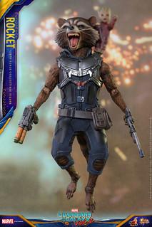 Hot Toys – MMS410 – 星際異攻隊2【火箭浣熊】Rocket 1/6 比例人偶作品