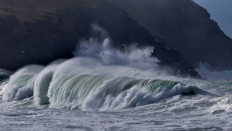 Big swell at Clogher beach