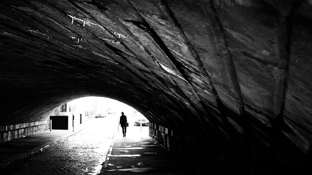 Grand Canal Quay - Dublin, Ireland - Black and white street photography