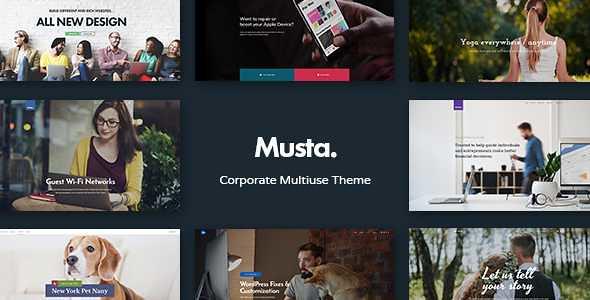 Musta WordPress Theme free download