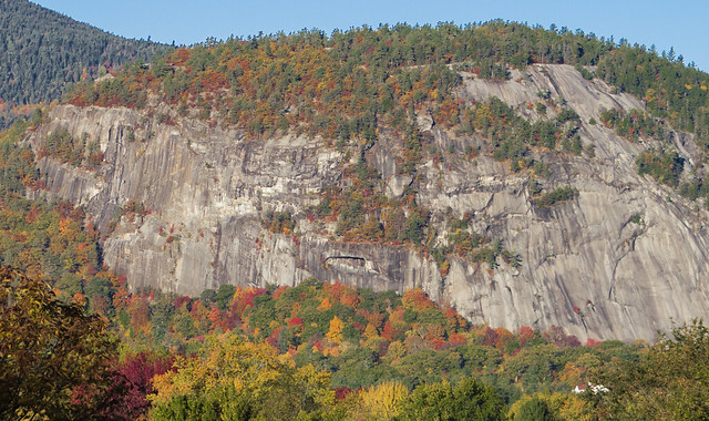 Close up of the ledge. Cathedral Ledge, White Mtns, New Hampshire