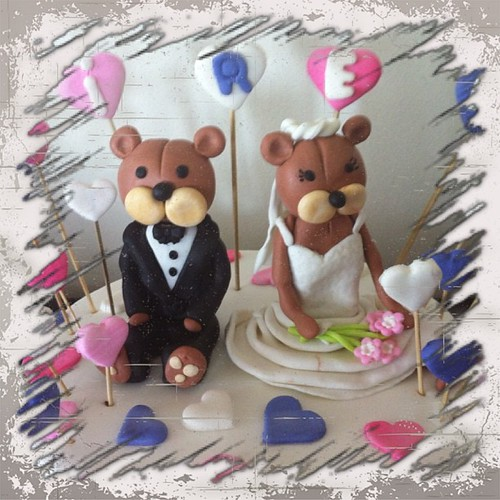 #bride#groom#birthdaycake#bear#sugarart #sugarpaste #sekerhamurlupastalar #ayiciklipastalar#gelindamat by l'atelier de ronitte