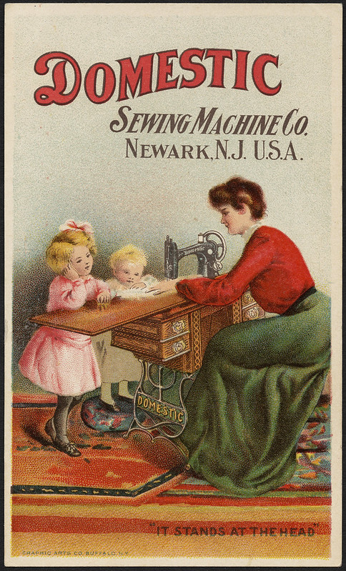 ボストン・パブリック・ライブラリーの紹介するミシンのトレード・カード。275点の画像が公開されています。