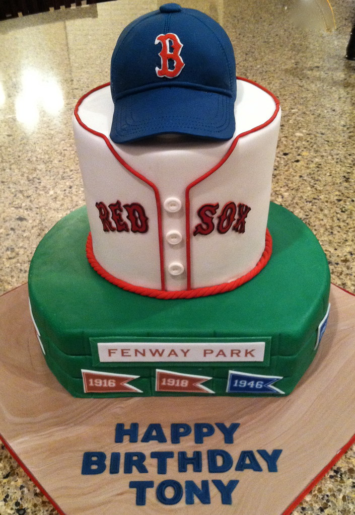 ChocolateChipmunkCakes Boston Red Sox Birthday Cake