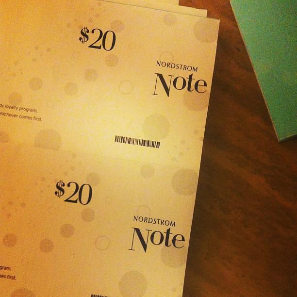 ... of @nordstrom notes! Woohoo! #nordstrom #fashionrewards #nadiashops