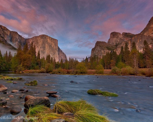 Autumn Sunset, Gates of the Valley (Yosemite)