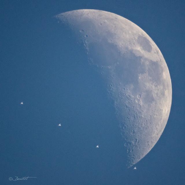 Moon, ISS & ATV- 4