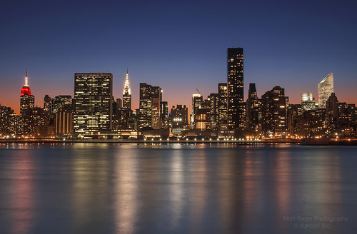 city sunset newyork skyline river twilight manhattan empirestatebuilding chryslerbuilding
