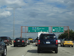 Approaching Chicago, Illinois, Kennedy Expressway, I-90 and I-94 Eastbound