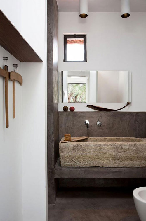Stone Basin Bathroom : love a bathroom sink made of stone because of the natural and rustic ...