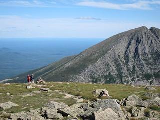 descending down hamlin ridge