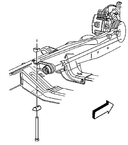 torsion key adjustment bolt. install the adjustment arms and torsion bars in relation to where were removed. key bolt