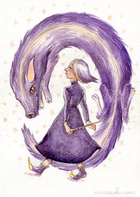 La hechicera y su mascota
