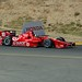 Dario Franchitti begins making his way up the hill during practice at Sonoma