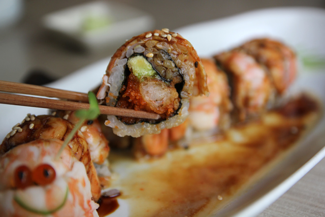 Inside of the delicious roll