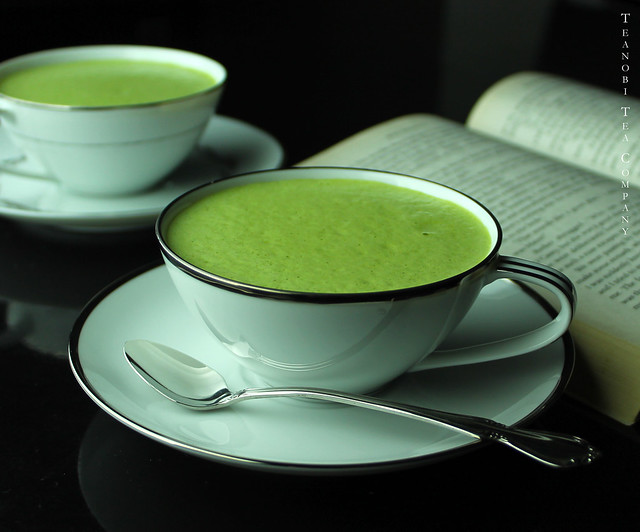 how to make green tea latte at home