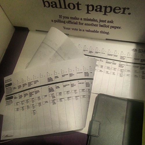 Long Senate ballot paper is long