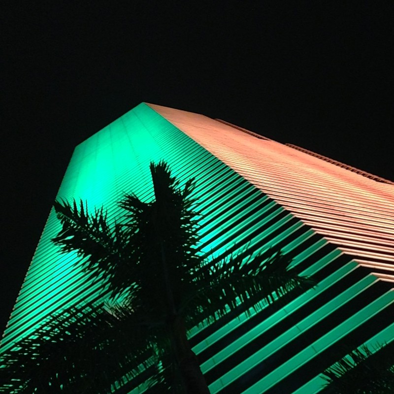 Centrust Tower wearing #hurricane pride