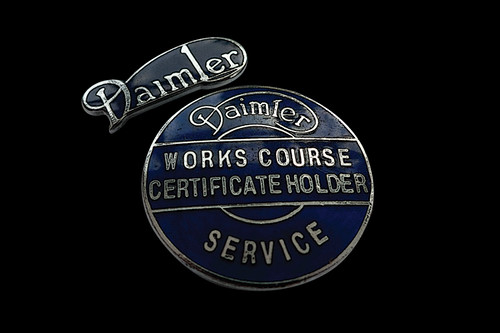 Daimler | Daimler Service I Works Course Certificate Holder | c1950s/60s