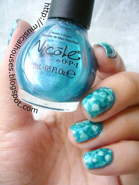 Pond Manicure Nicole OPI Somebody Teal Love 4