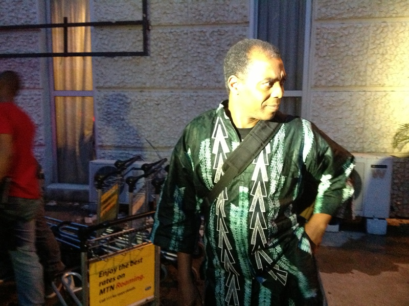 Femi Kuti arrives in Ghana
