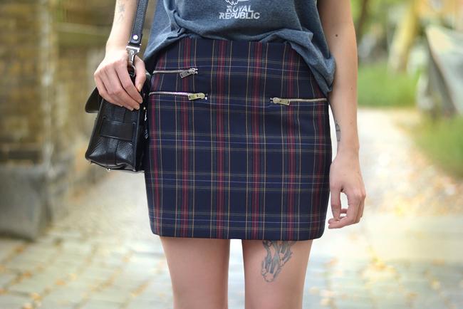 Check Print Royal Republic shirt Proenza Bag Outfit Blogger 3
