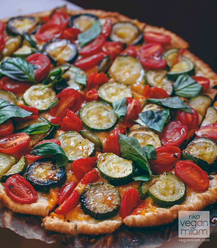 Tomato & Courgette Puffy Pastry Pizza