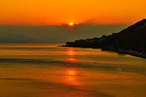 sunset sea orange hellas greece loutraki ηλιοβασιλεμα λουτρακι photographyforrecreationeliteclub