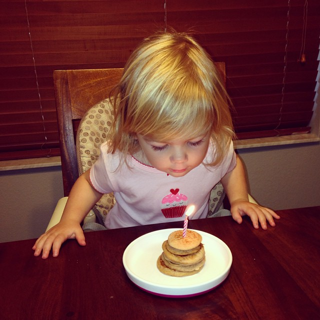 Birthday pancakes made by Daddy! #kenleyturns2
