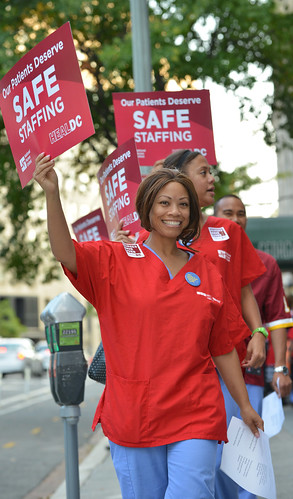 DC RNs take ratios fight from the bedside to curbside.