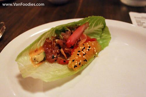 Ahi Lettuce Wrap