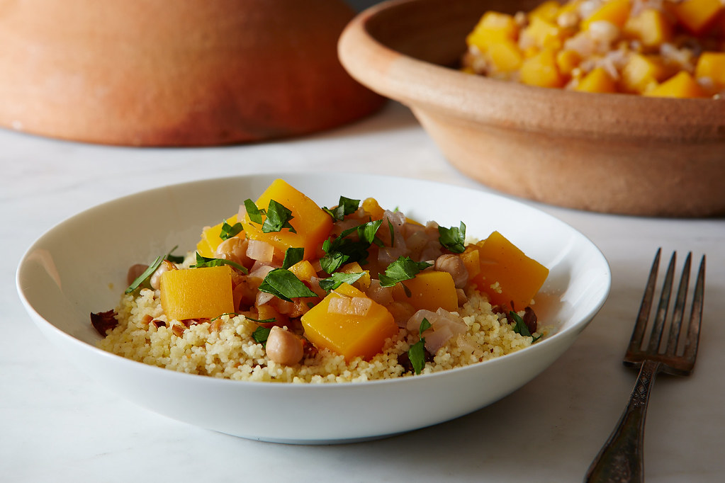Moroccan Butternut Squash And Chickpea Tagine With Quinoa Recipes ...