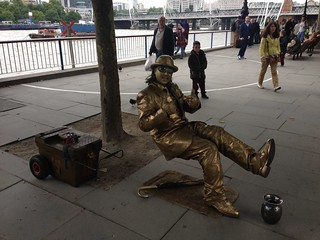 Busker on Southbank